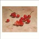 Kunstwenskaart rode bessen